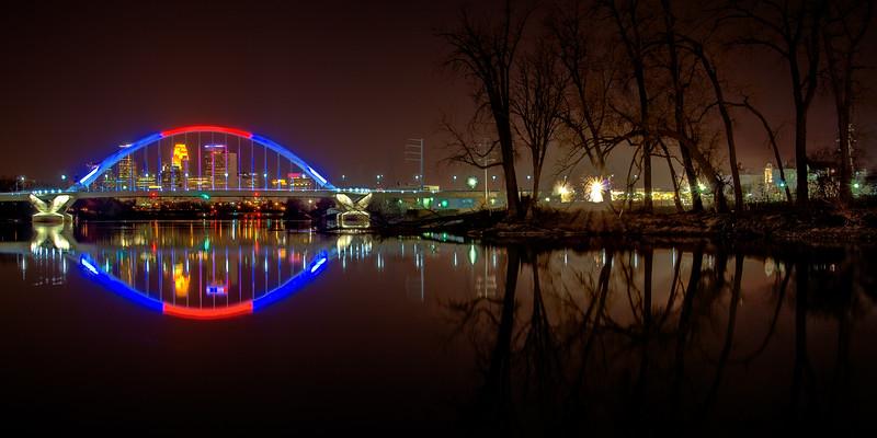 The Lowry Avenue Bridge Celebrates the Twins Home Opener
