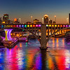 Minneapolis lights up the 35W Bridge in rainbow colors for Pride Weekend