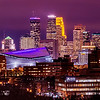 Downtown Minneapolis in Purple