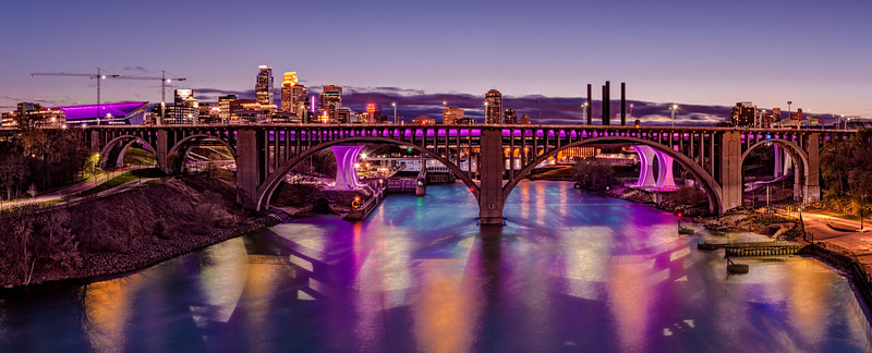 Minneapolis Lights up Purple for Prince