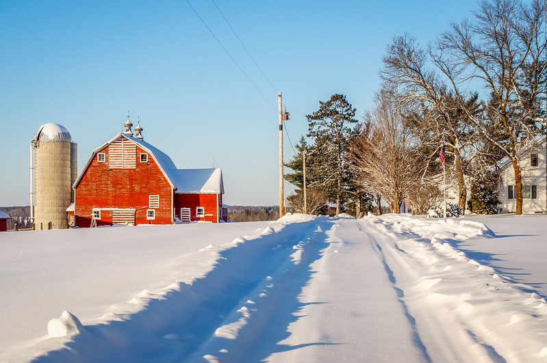Snowy Path to the Anderson Farm