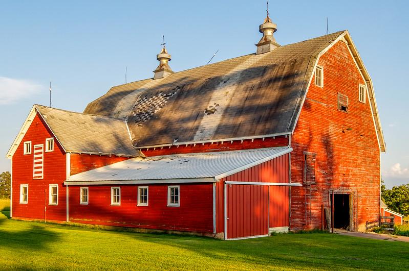 Dusk Descends on the Old Barn