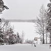 Sibley Lake Fishing Pier Winter Scene