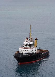 Tug boat off the coast of Bermuda