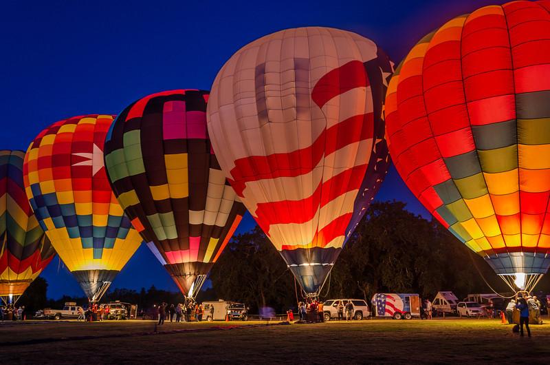 Sonoma County Hot Air Balloon Classic 2014, Windsor, California