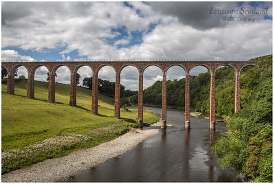 Leaderfoot Viaduct and the River Tweed