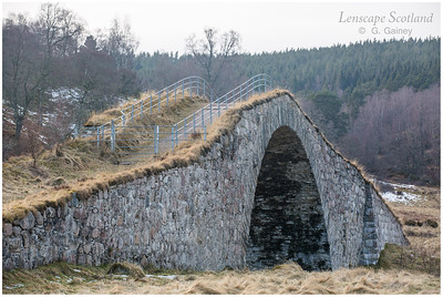 Sluggan Bridge over River Dulnain, near Carrbridge