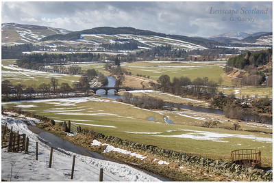 Manor Bridge and the Tweed Valley, west of Peebles
