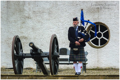 Piper at Blair Castle, Blair Atholl