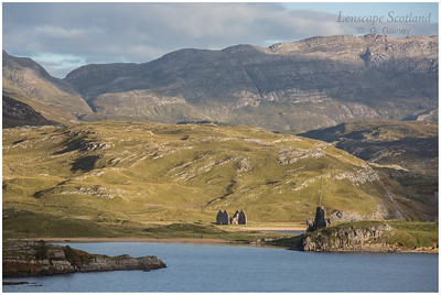 Calva House and Ardvreck Castle, Loch Assynt