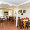 Breakfast Room can be used to keep the buffet table, bar and the cake table.