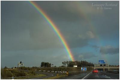 Rainbow over the M9 near Kirkliston