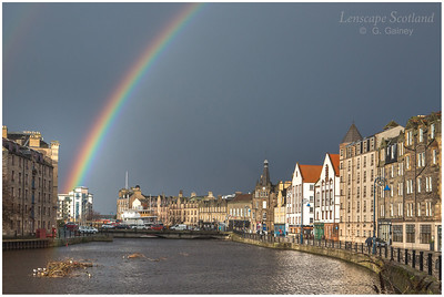 Rainbow over the Shore at Leith