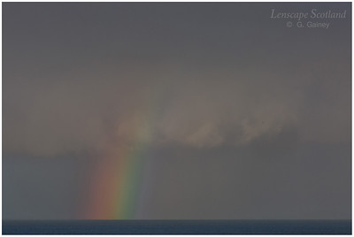 Rainbow over The Minch, from Neist Point