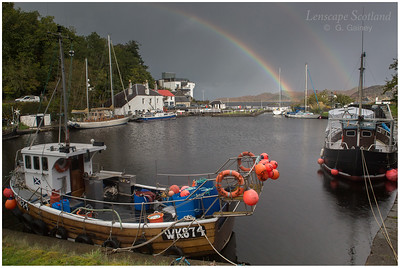 Rainbow over Crinan (1)