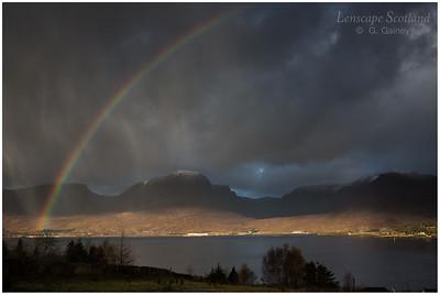 Rainbow and hail showers, Loch Kishorn (2)