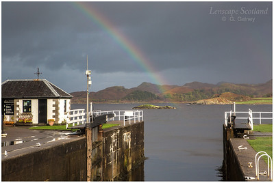 Rainbow over Crinan (2)