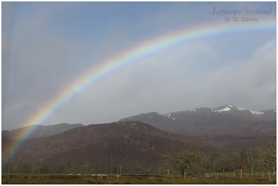 Rainbow over Beinn a'Bha'ach Ard, Glen Strathfarrar