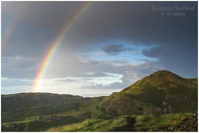 Rainbow over Arthur's Seat, Edinburgh