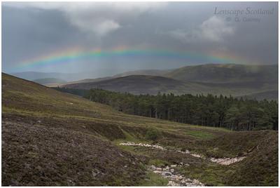 Rainbow over Glen Muick, from Clais Rathadan