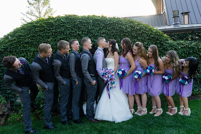 Bridal Party Catching A Peek