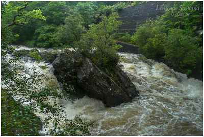 Falls of Leny, Callander, in spate