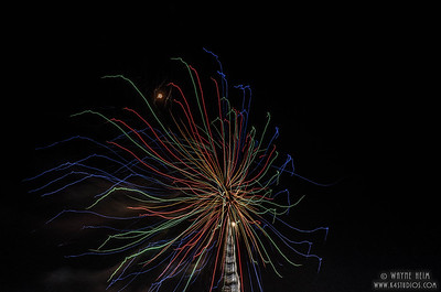 Fireworks on Tower      Photography by Wayne Heim