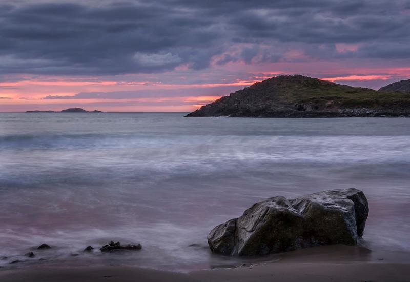 Sunset Whitesands Bay & St Davids Head - a long exposure