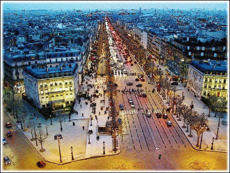 Paint me a Picure Champs-Elysees Paris