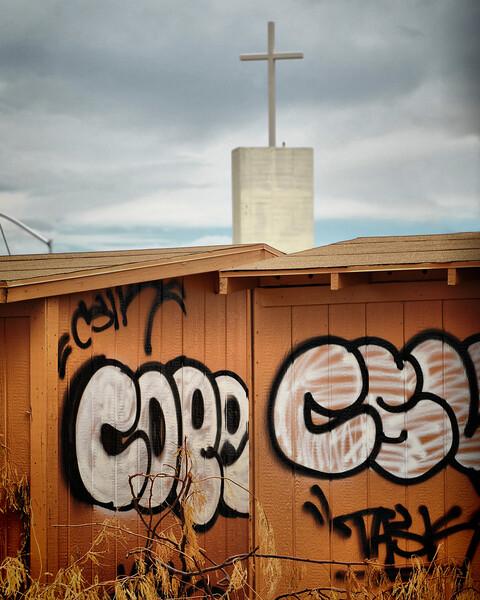 Graffiti and a Cross