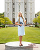 Sister Missionary at Salt Lake Temple