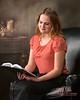 Sister Reading book of Mormon