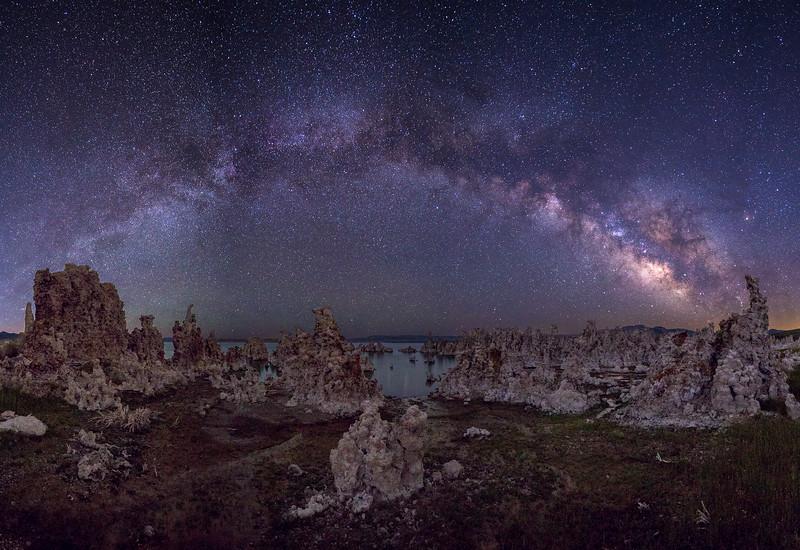 Lee Vining Undeveloped Tufa Area and Milky Way