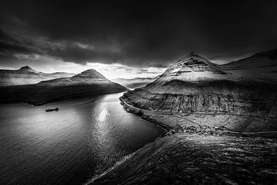 Navigating the fjord, Faroe islands