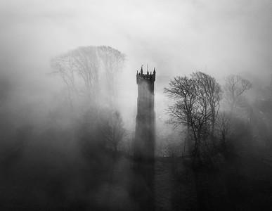 Mist and shadows, Ayrshire, Scotland