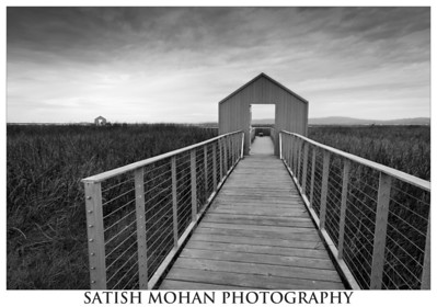 Alviso County Park, Alviso, CA  These odd shaped structures were gates to the marine piers in the late 1800s. BW conversion and processing using Adobe Lightroom. Used LR's GND filter on this one - it brings out detail in the skies nicely.