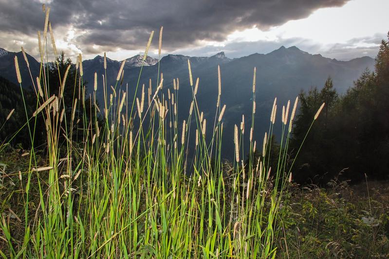 Orage menaçant,  St-Luc  Val d'Annivier,  Valais, Suisse