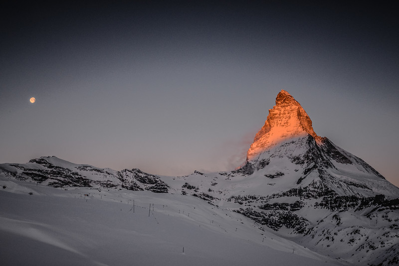 Une nouvelle journée commence à Zermatt