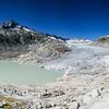 Pano du glacier du Rhône