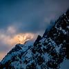 Le Mont Blanc joue à cache cache du côté Italien du Val Ferret
