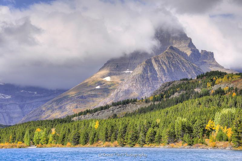 DF.4071 - Mt. Wilbur in fog, Glacier National Park, MT.