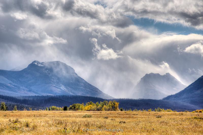 DF.4084 - Mountain storm in Autumn, Glacier National Park, MT.