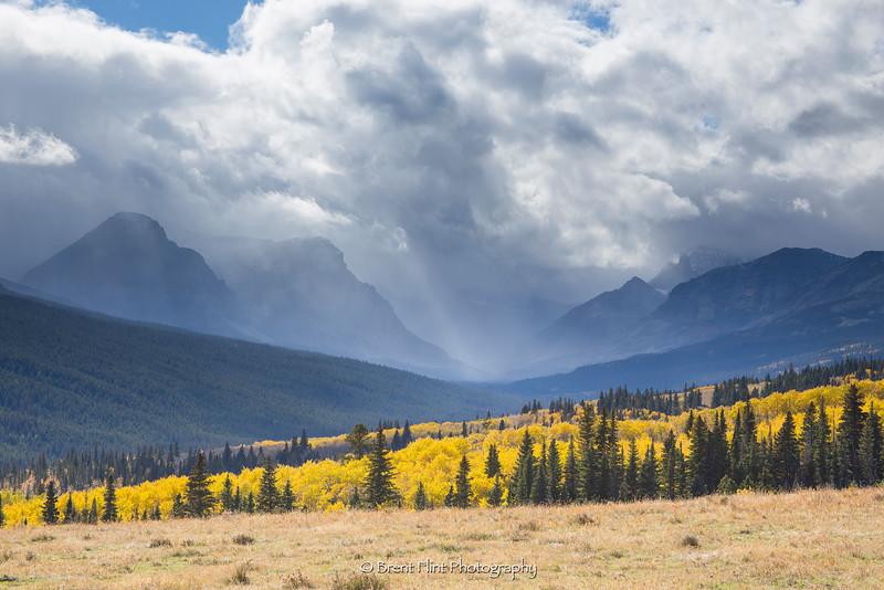 DF.4086 - Mountain storm in Autumn, Glacier National Park, MT.