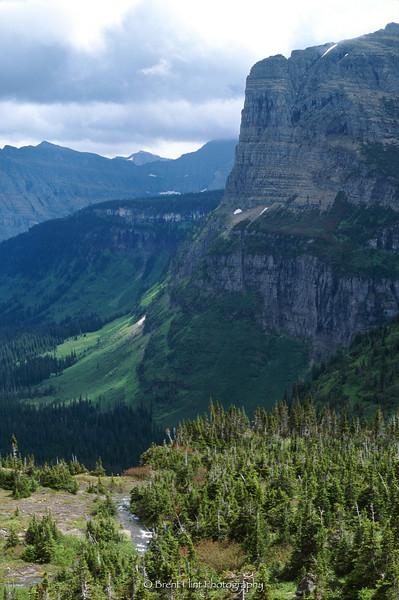 S.743 - mountains in Glacier (Reynold's Creek), Glacier National Park, MT.