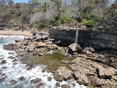 Montezuma Waterfall Running into the Ocean