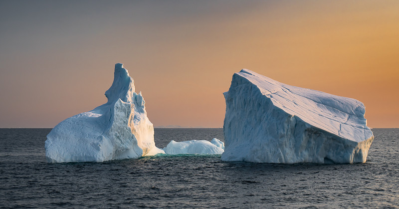 Sunset in Glacier Strait, Ellesmere Island, Canada