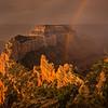 Red Rainbow in the Sunrise Mist