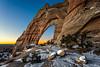 Twilight at White Mesa Arch
