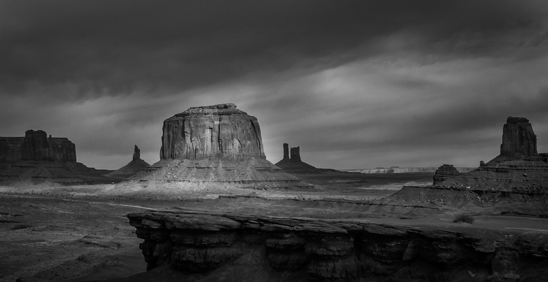 Shadowy Monument Valley
