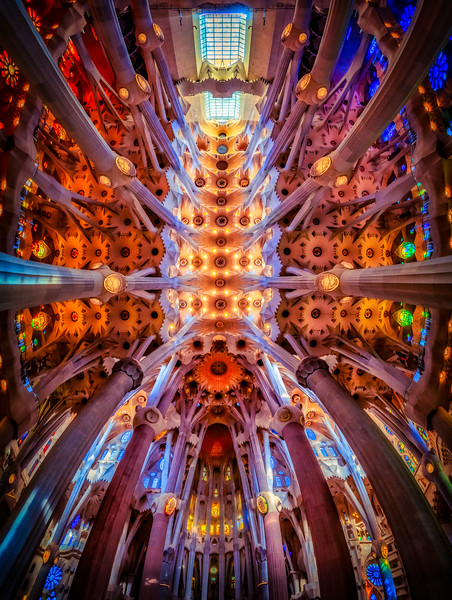 Gaudi's Majestic Ceiling